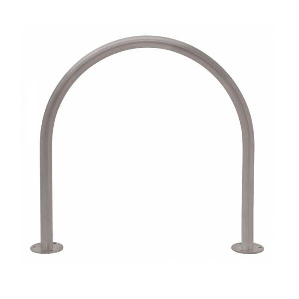 Anlehnbügel/Absperrbügel -Bow- Ø 48 mm aus Stahl, zum Aufdübeln