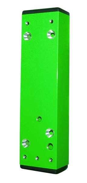 Distanzstück f. Türwächter, 30-60 mm,grün (RAL 6029) o. langn., Aufkleb./Anschr., inkl. Abdeckkappen