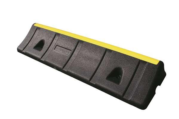 Radstop/Parkhilfe/Bordsteinaufkantung -Mountain- aus Gummi, Länge 1000 mm, Höhe 150 mm