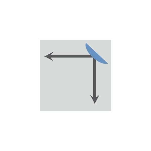 Verkehrsspiegel -EUCRYL®- aus Kunststoff, leicht, rund