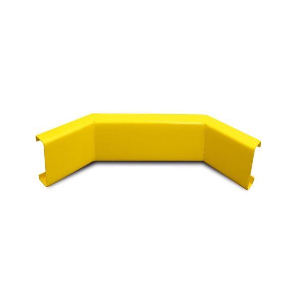Rammschutzgeländer -Central-, Eckplanken aus Stahl, Innenecke C-Profil 100 x 40 x 3 mm