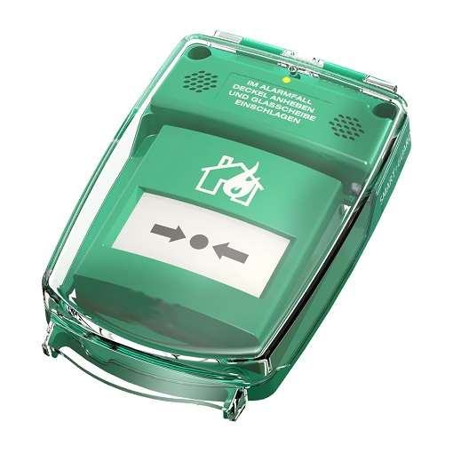 Handmelder-Abdeckung -e-Cover® klein- , für Handmelder bis 90 x 90 mm, batteriebetrieben